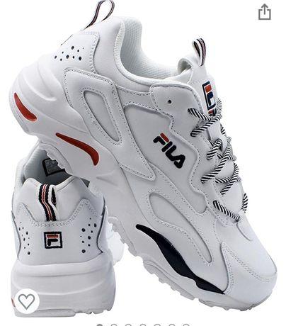 Новые кожаные кроссовки  Fila 41р, кросовки Fila оригинал, nike, ecco