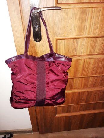 Calvin Klein oryginalna torebka shopper bordo do ręki