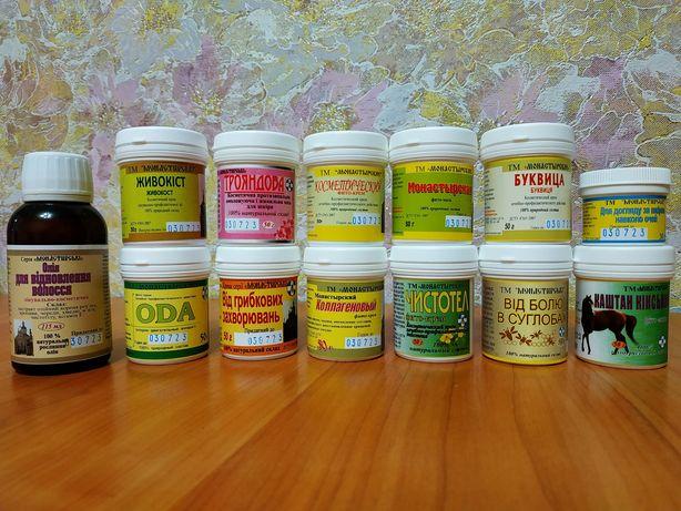 Монастырский фито-крем, фито-мазь, косметические крема ТМ Монастырские