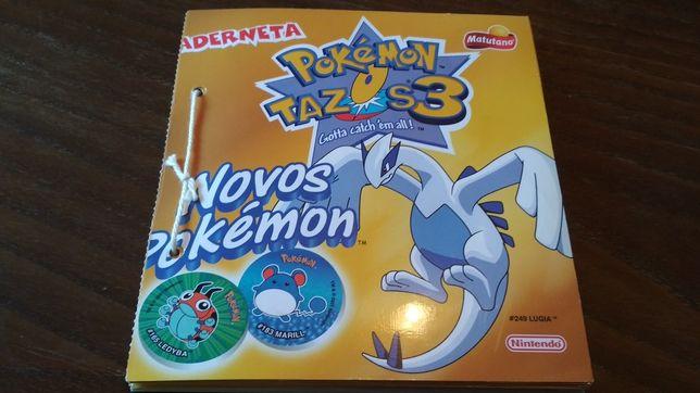 Caderneta Pokémon Tazos 3