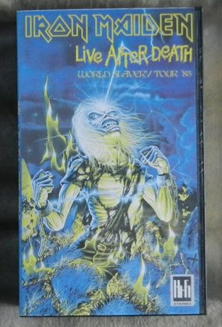 Iron Maiden Live After Death vhs