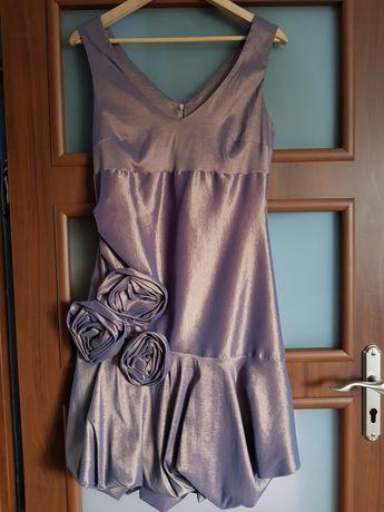 Suknia balowa stare złoto