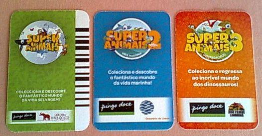 Cartas Pingo Doce : Super Desportos + Super Animais [1/2/3]