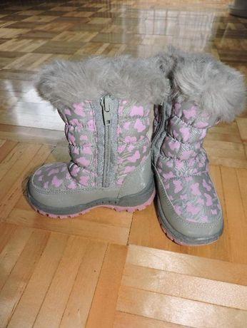 Buty zimowe dla dziewczynki rozm 22