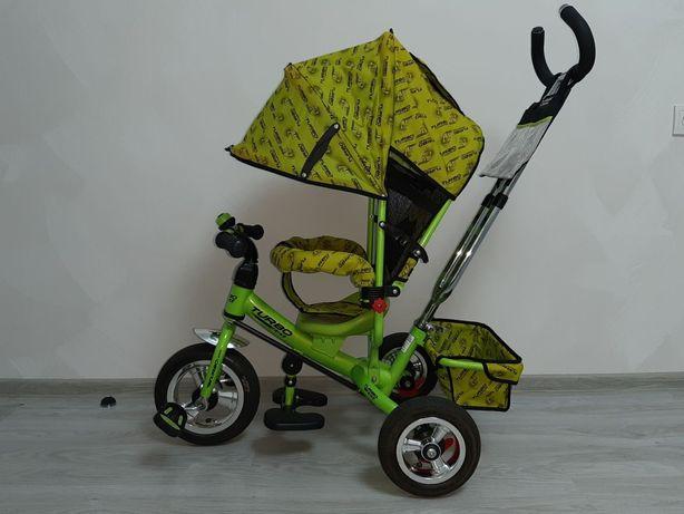 Велосипед с родительской ручкой, велосипед-коляска