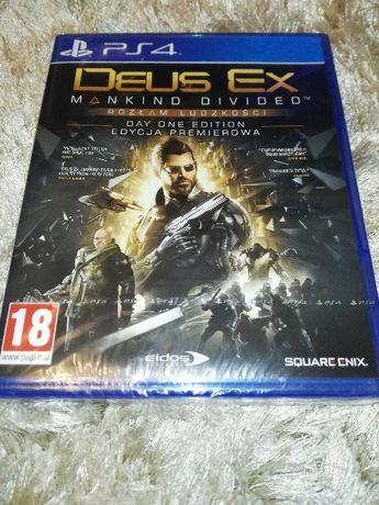 Deus Ex rozłam ludzkości na PS4-nowa zafoliowana!