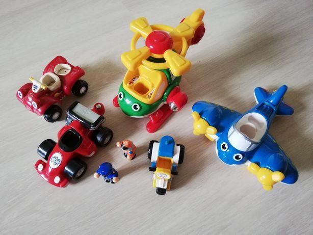 Wow Toys, helikopter, samolot, wyścigówka, motor, quad