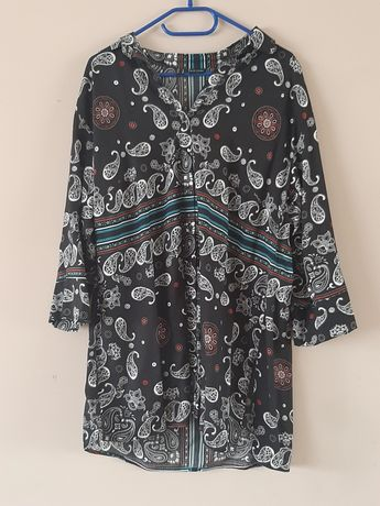 Kolorowa tunika sukienka