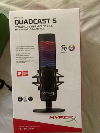 Microfone HyperX Quadcast S Selado