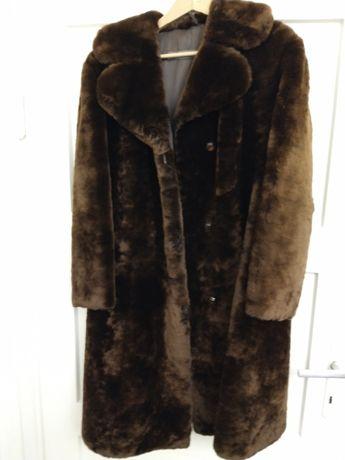 Płaszcz damski z futra baraniego, brązowy - sprzedam