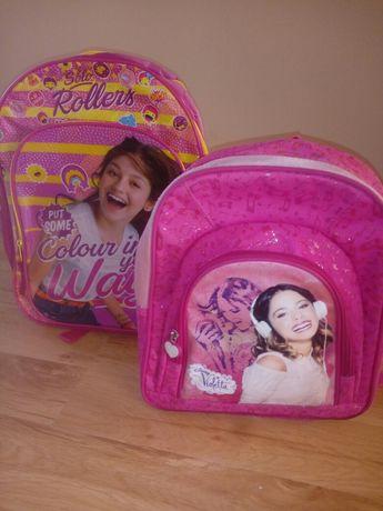 Dwa różowe plecaki Violetta i Luna