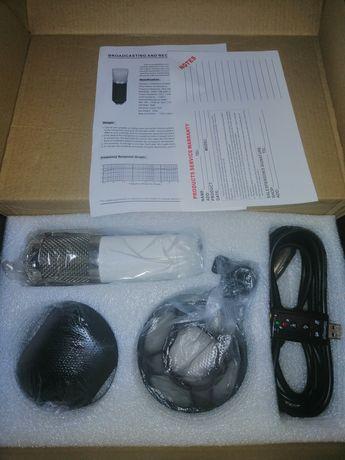 Студийный микрофон + стойка(пантограф) + звуковая карта
