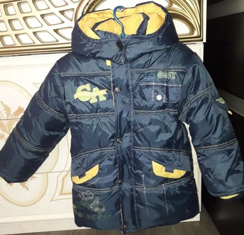 Куртка зимняя теплая мальчику 5-6 лет
