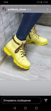 Женские зимние ботинки из натуральной кожи. Жіночі зимові чоботи.