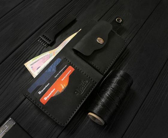 Кожаный бумажник ручной работы, лучше Louis Vuitton.На подарок мужчине