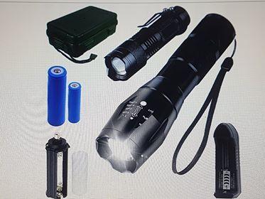 LATARKA LED CREE x2 XM-L T6 Q5 ZOOM AKU + walizka, możliwość wysyłki,