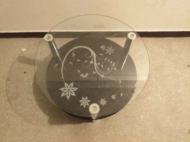 stolik kawowy szklany okrągły 60 cm