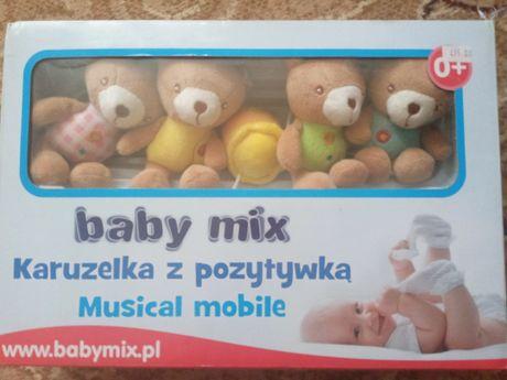 Музыкальная мобиль карусель с мягкими медведями