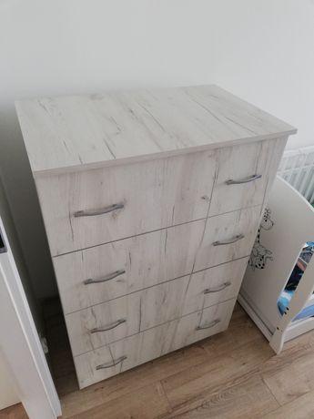 Komoda/szafka drewniana z szufladami. Miękki domyk. 80x50x120