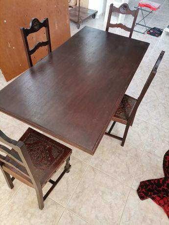 Mesa Madeira c/cadeiras