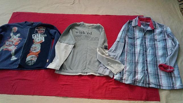 Рубашка в школу, батник, реглан для мальчика подростка-140/152