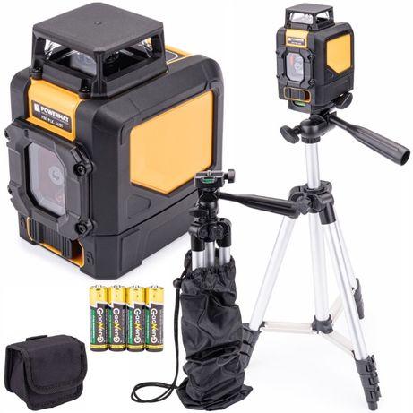 Poziomica laserowa / laser krzyżowy 360° PM-PLK-360T + statyw i futera