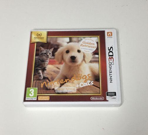 Nintendogs + Cats Golden Retriever Nintendo 3DS completo