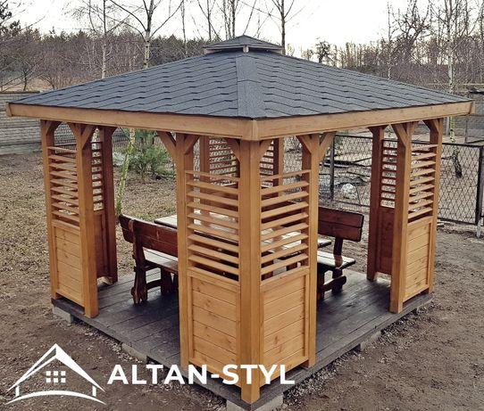 Altany, altanki, wiaty, altana ogrodowa KLEO 3x3m PRODUCENT