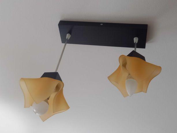 Lampa sufitowa, żyrandol  pomarańczowy