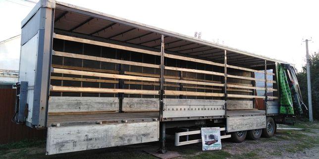 Алюміневі борти з установкою на штору полуприцеп грузовик.
