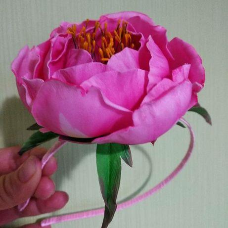 Цветы из фоамирана - аксессуары для волос