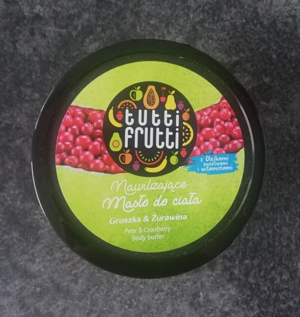 Nawilżające masło do ciała Farmona Tutti Frutti gruszka i żurawina