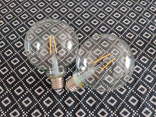 2 lâmpadas globo Led 2W