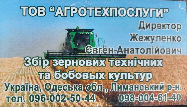 Предоставляем услуги по сбору урожая