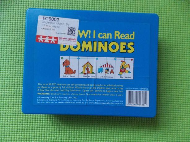 Angielskie zdania. Domino w języku angielskim.
