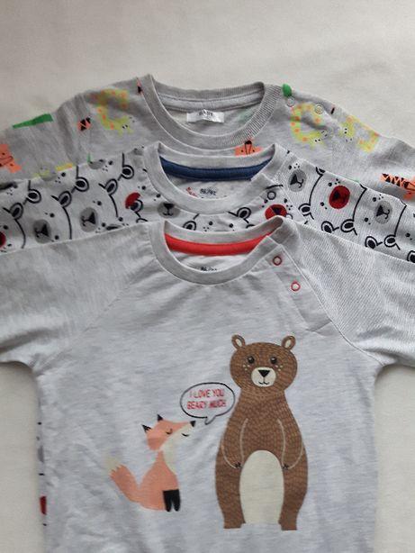 3 cienkie bluzy roz 86 - 92, Baby Bear Leo, Pepco