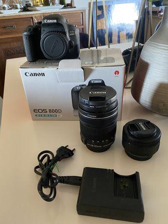 Canon 800d com lentes incluidas