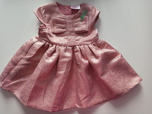 Sukienka, różowa sukieneczka dla dziewczynki z metką Pepco