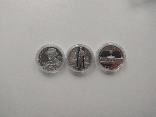 Монети евро, фунти, ювілейні гривні