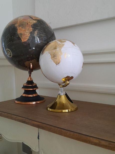 Globus dekoracja złoto biały prezent