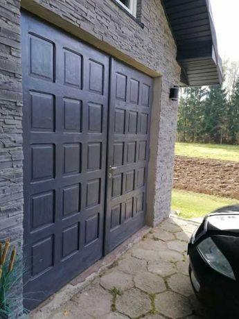 Drzwi garazowe dębowe solidne