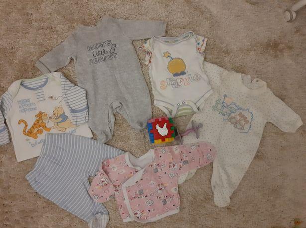 Пакет вещей на новорождённого ребенка от 0 до 3 мес слип боди ползунк