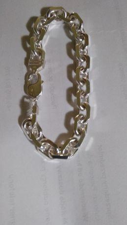 bransoleta Ankier diamentowana 50,2 g./24 cm. duża masywna do kompletu