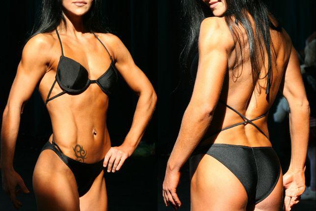 Strój do fitness sylwetkowego zawody sylwetkowe kulturystyka bikini
