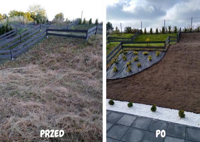 Trawniki, glebogryzarka separacyjna , nawadnianie, usługi ogrodnicze