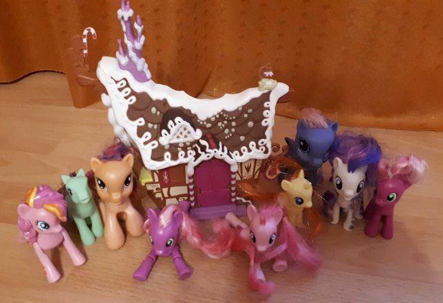 Cukiernia pinki plus koniki pony i dwa zwykłe.