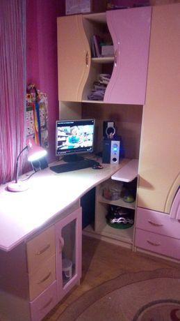 Стенка детская  стол шкаф еколь лак.