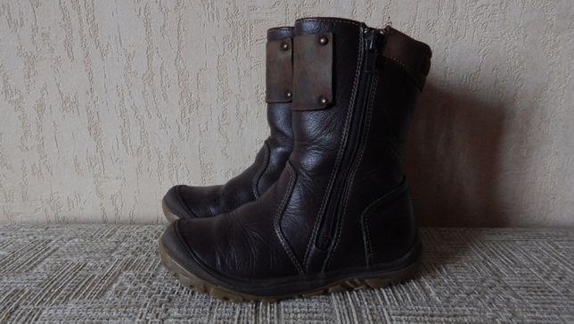 Детские кожаные сапоги 27 размер, ботинки, чоботи, сапожки