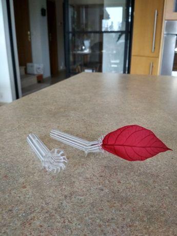 Małe szklane rurki wazony dzbanuszki na kwiatek ozdoba na stół