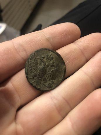 Монета деньга 1753 год